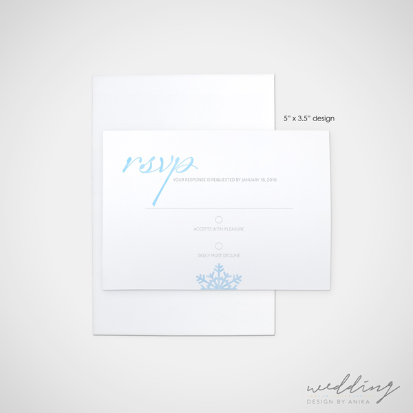 touch of winter - wedding design by anika - stationery - rsvp