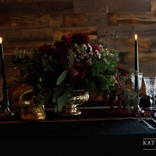 moody halloween - wedding design by anika