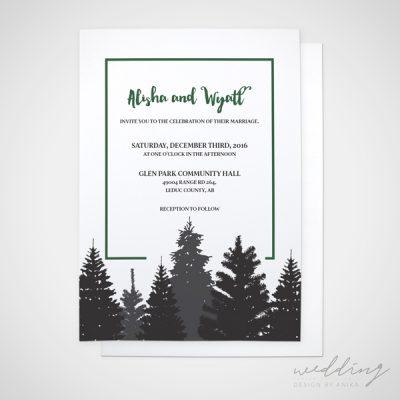 spruce farm - wedding design by anika - stationery - invitations