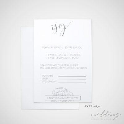 the rose - wedding design by anika - stationery - invitations