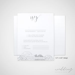 the rose - wedding design by anika - stationery - invitations