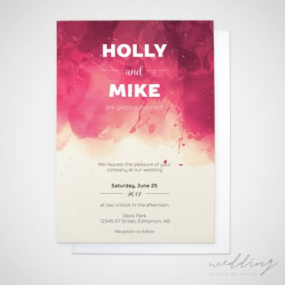 ink drop - wedding design by anika - stationery - invitations