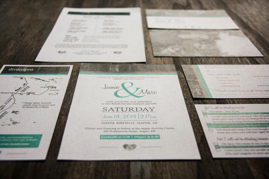 wedding design by anika - custom invitations