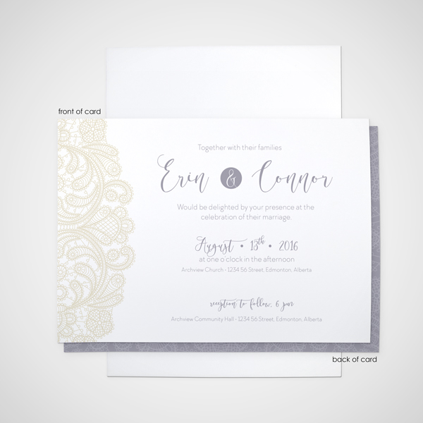 Lacy flat invitation wedding design by anika wedding design by anika edmonton invitations and stationery solutioingenieria