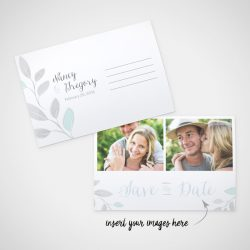 leaves of silver - wedding design by anika - stationery - invitations