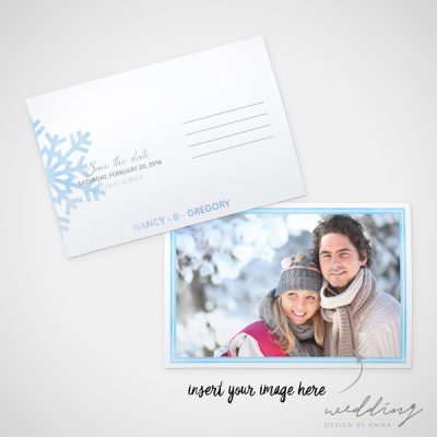 touch of winter - wedding design by anika - stationery - stdc