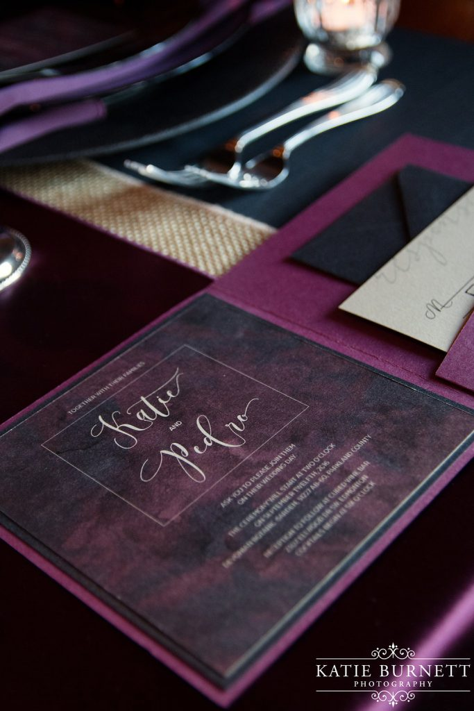 moody halloween - wedding design by anika - edmonton invitations and stationery