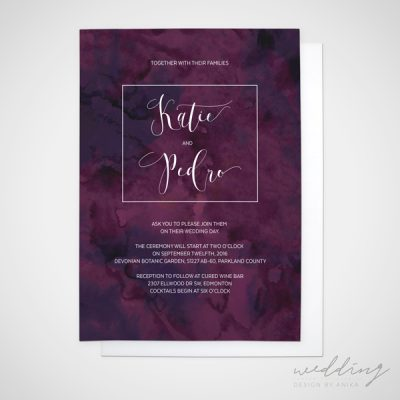 purple mist - wedding design by anika - stationery - invitations