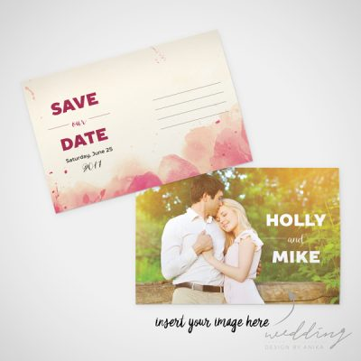 ink drop - wedding design by anika - stationery - save the date card