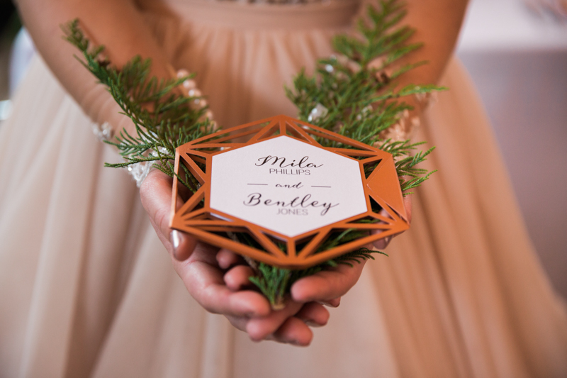 Wedding Design by Anika christmas copper Invitation