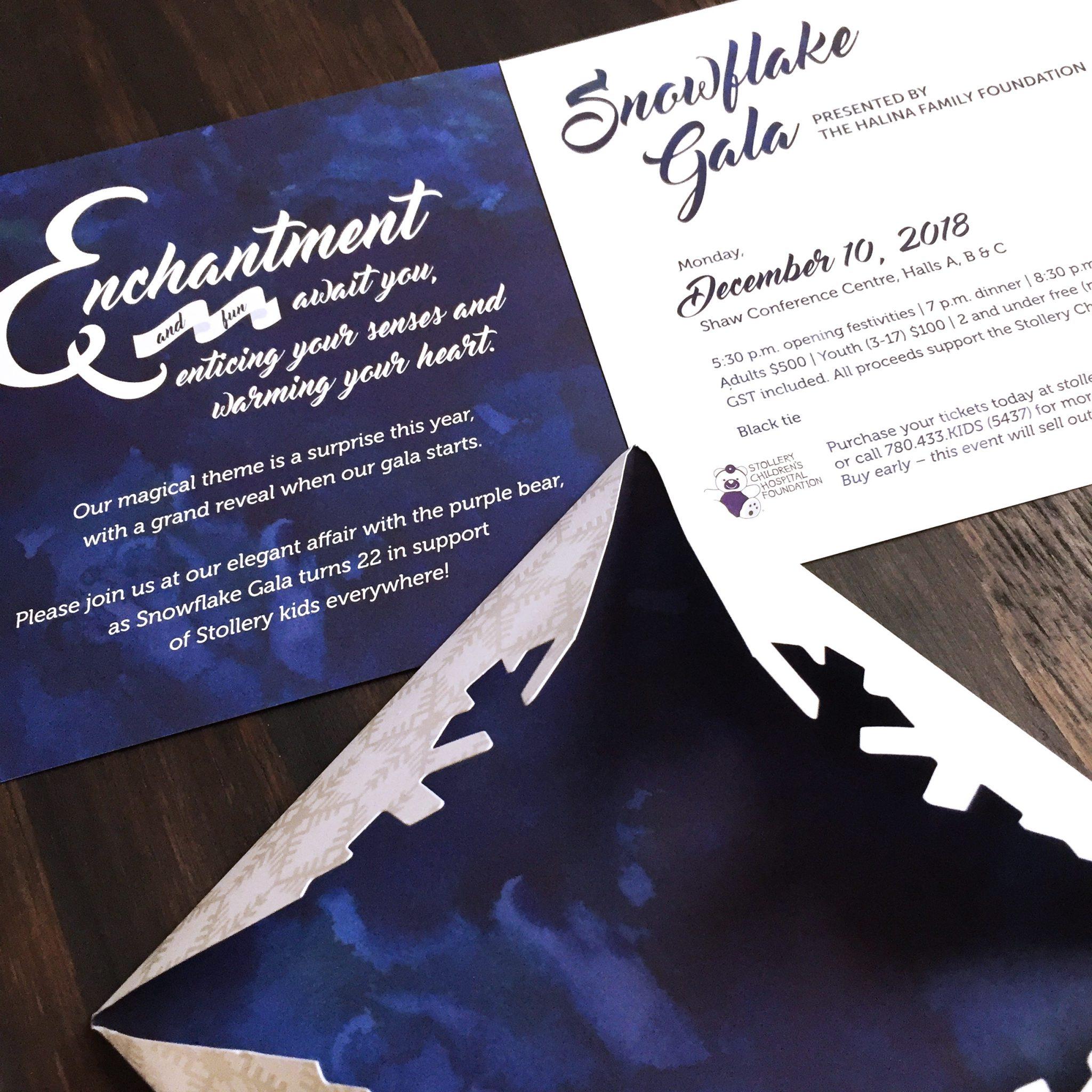 Stollery Snowflake Gala Invitation
