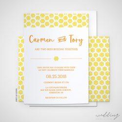 honey bee - wedding design by anika - stationery - invitations