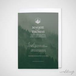 misty mountain - wedding design by anika - stationery - invitations