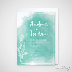 reverse watercolour - wedding design by anika - stationery - invitations