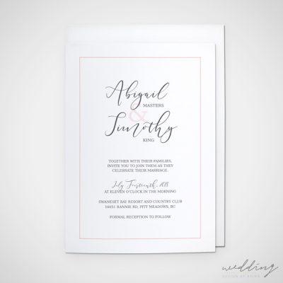 serene dream - wedding design by anika - stationery - invitations